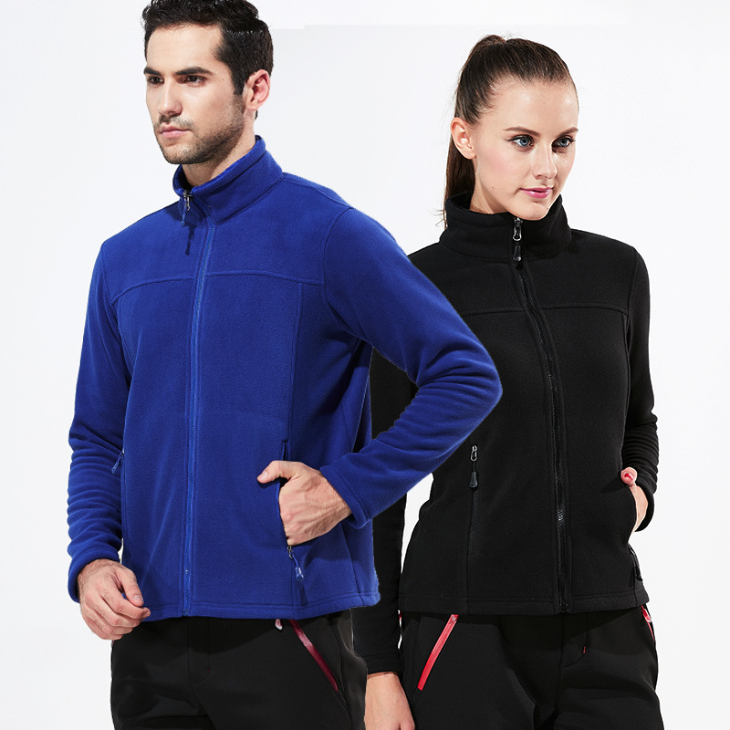 Men Women Tech Fleece Outdoor Hiking Jacket Winter Warm Breathable Sport Coats