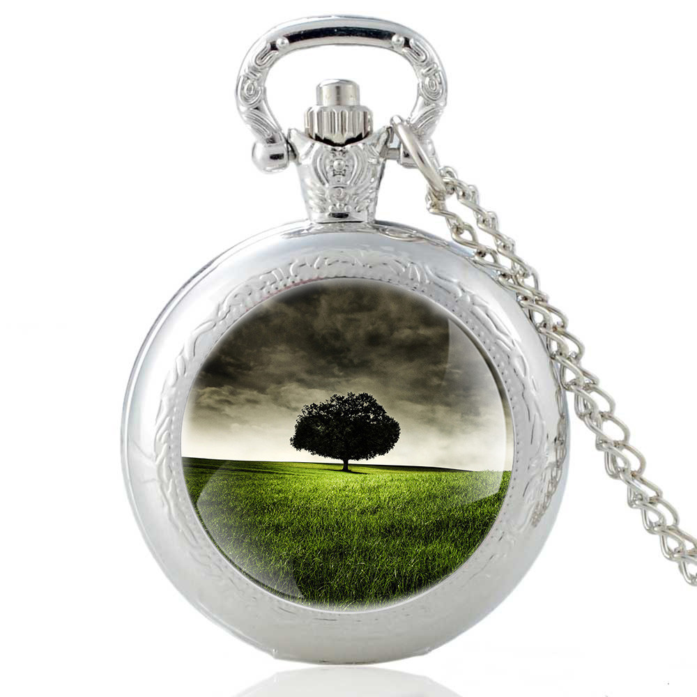 FAITHEASY Pocket Watches Beautiful Compass Pattern Vintage Bronze Quartz Pocket Watch With Chain Necklace For Women And Men