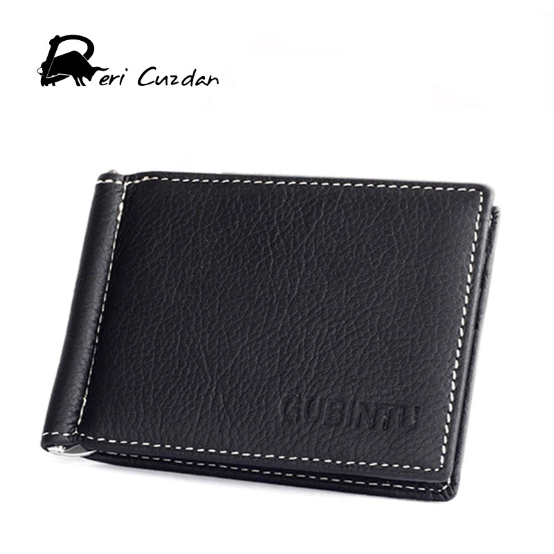 DERI CUZDAN 100% Genuine Leather New Wallet Men Designer Small Money Clip Card Wallets Men Male Coin Pocket Male Purse Carteira baellerry man wallets portefeuille homme card holder coin pocket cuzdan rfid male cuzdan purse clutch short purse with 6 styles