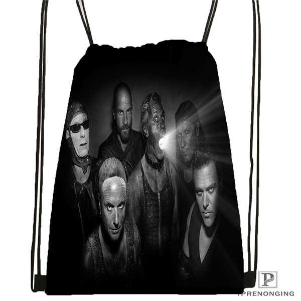 Custom Rammstein Drawstring Backpack Bag Cute Daypack Kids Satchel Black Back 31x40cm 2018612 01 16