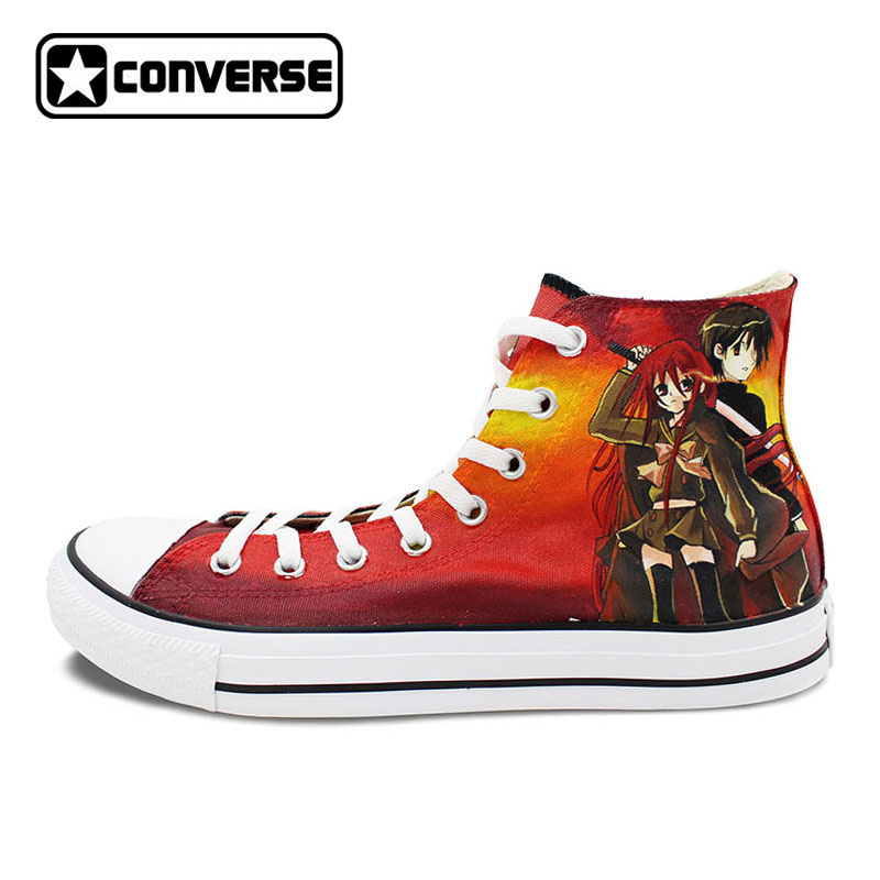 купить Original Converse Chuck Taylor Anime Shoes Shakugan No Shana Design Custom Hand Painted Shoes Canvas Sneakers Christmas Gifts онлайн