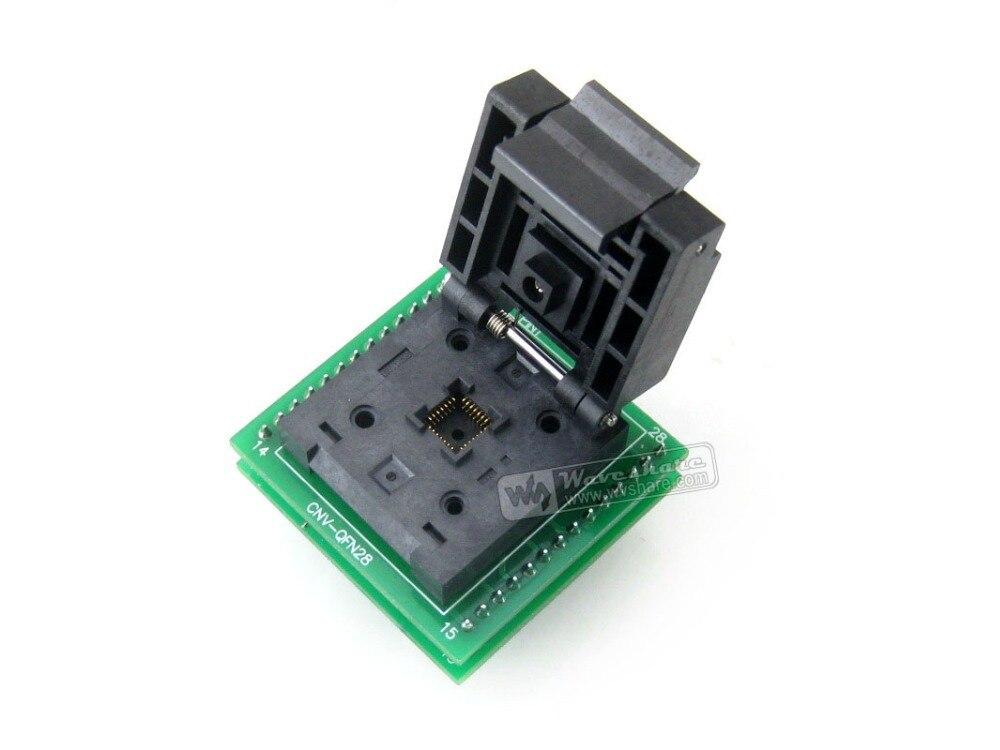 QFN28 À DIP28 (C) # QFN28 MLF28 MLP28 IC Test Socket QFN-28B-0.65-01 Adaptateur 0.65mm Pitch + Livraison gratuite