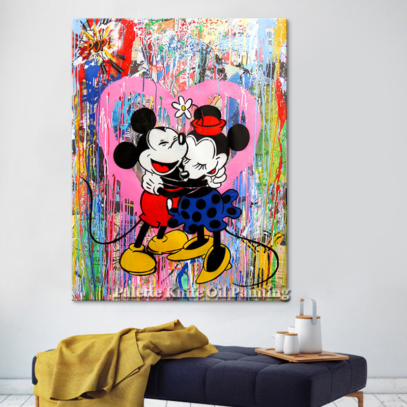 Alec Graffiti pop art print painting street art urban art on canvas Poster and print wall art Wall pictures for living room home