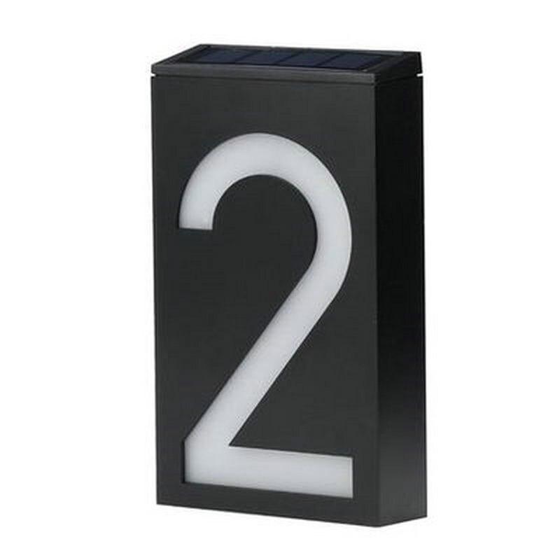Outdoor waterproof solar light backlit address number led house number