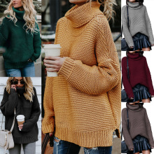 S-XL women casual leisure winter sweater clothes turtleneck long sleeve