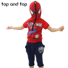 Spiderman Children Boys Clothing set Baby Boy Spider man Sports Suits t shirt+ pant Kids 2pcs Sets Clothes Tracksuits