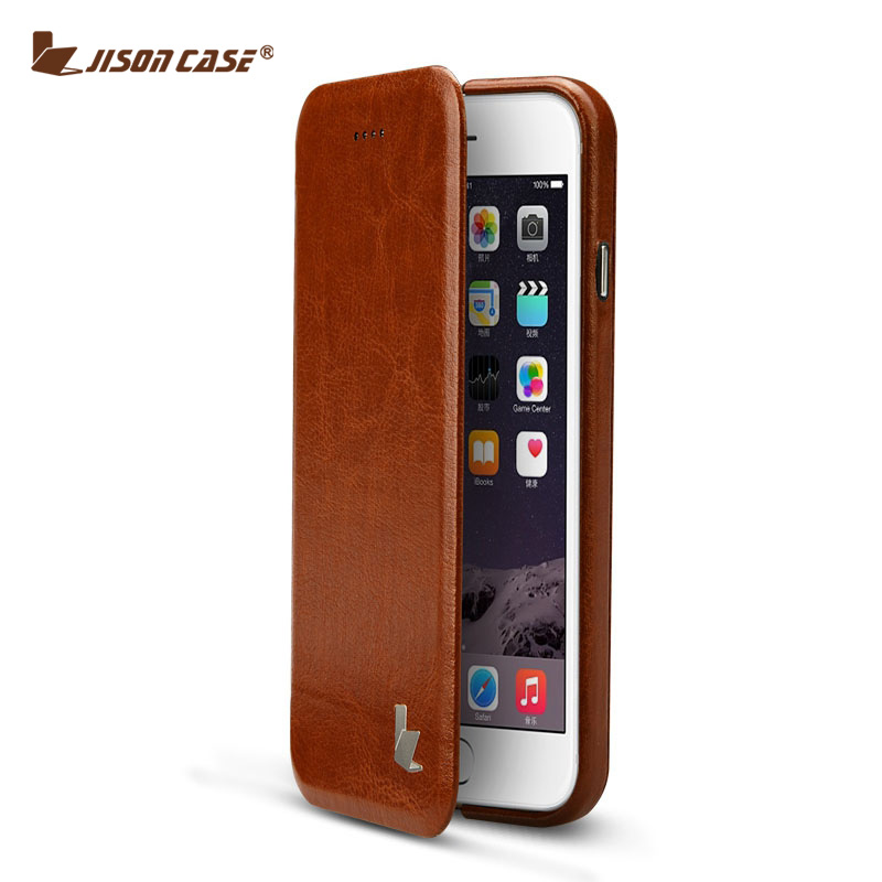 """bilder für Jisoncase PU Ledertasche für iPhone 6 6 s Fall Abdeckung Luxus marke Original Falten Magnet Telefon Shell für iPhone 6 s 6 4,7 """"Funda"""