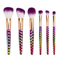 6pcs purple Makeup Brushes Set honeycomb rainbow handle Cosmetic Foundation Eyshadow Blusher Powder Brush beauty tools kits