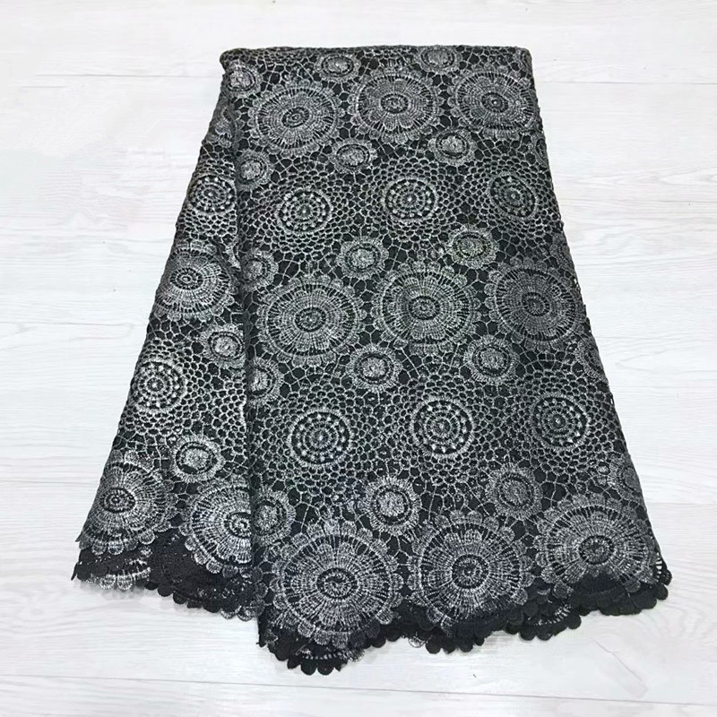 Latest Style African Guipure Cord Lace Fabrics High Quality French Lace Fabric Hot Sale Nigerian Lace