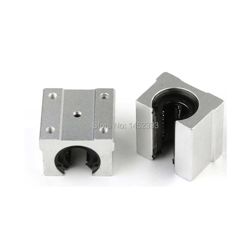 Free shipping SBR20UU SBR20 Linear Bearing 20mm Open Linear Bearing Slide block 20mm CNC parts linear slide