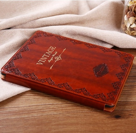 Solque PU Leather Flip Cover for iPad Mini 1 Tablet Case Luxury Ultra Slim Hard Shell Cases Retro Vintage Book Style 7.9 inch