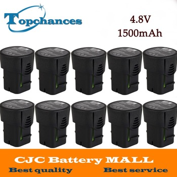 Wholesale 10PCS High Quality Newest NI-MH 4.8V 1500mAh 755-01 Battery For Dremel MiniMite 4.8 Volt 750-02 Rotary Tool