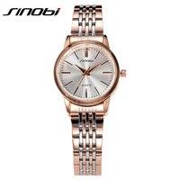 2016 SINOBI Watches Women Brand Luxury Quartz Watch Women Fashion Relojes Mujer Ladies Wrist Watches Business