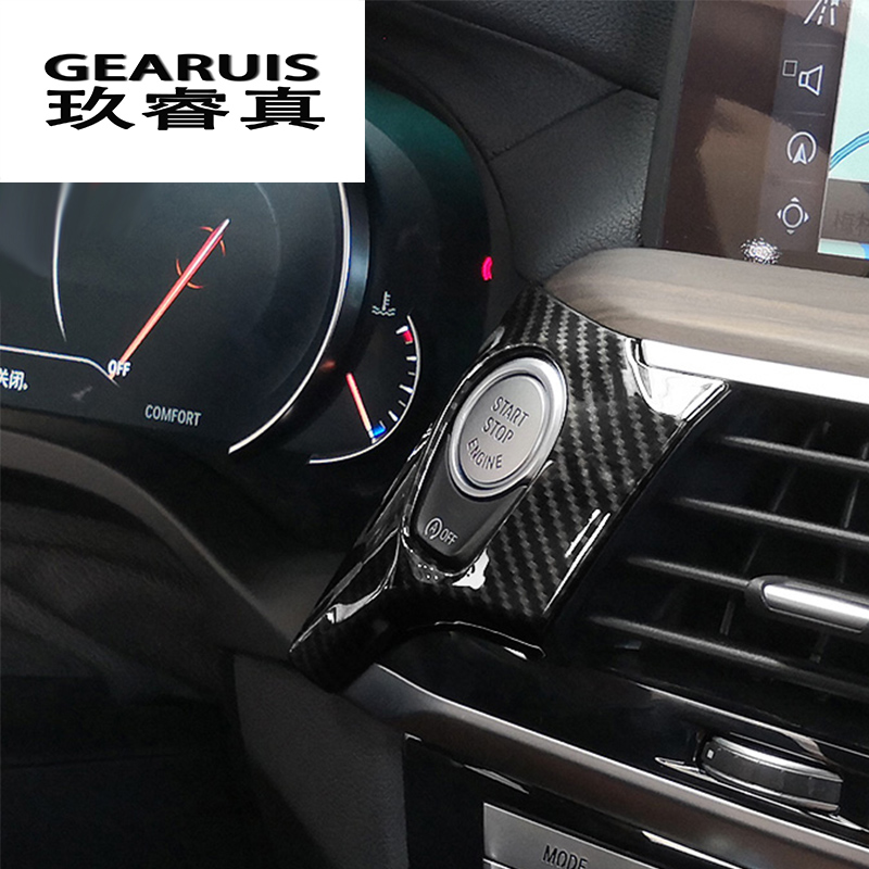 Car styling keyhole decorative ENGINE START STOP switch button frame cover trim sticker For <font><b>BMW</b></font> <font><b>x3</b></font> <font><b>g01</b></font> Interior Auto <font><b>Accessories</b></font> image