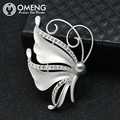OMENG Hot Sale Big Pearl Brooch Rhinestone butterfly brooch bow brooch pin brooch wild fashion clothing Accessories  OXZ026