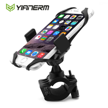 Yianerm MTB Bike Phone Holder Secure Brand Clip Grip Bicycle Handlebar Phone Mount Bracket For iPhone 6 6s 7 Plus,Samsung,GPS