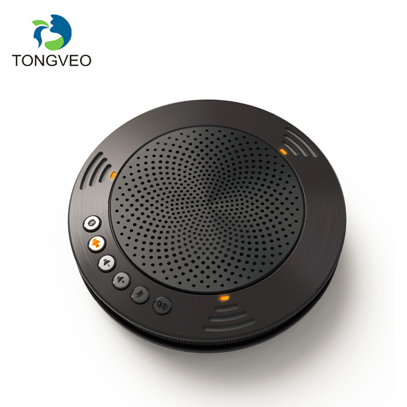 TONGVEO A100B USB Hands-Free Call WIRELESS Bluetooth Speakerphone For Softphone And Mobile For IPhone X Conference Phone