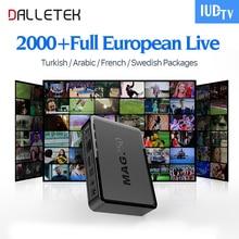 Dalletektv Linux TV Box Mag 250 Ip tv Box Europa Árabe Código Suscripción IPTV IUDTV Sueco Italia Francés Canales de IPTV Caja de la TV