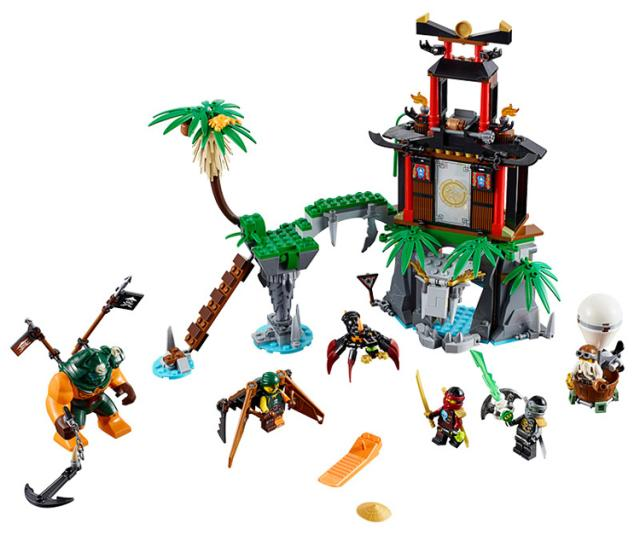 все цены на Pogo Lepin 482pcs Phantom Tiger Widow Island Assembled Ninjagoe Thunder Swordsman Building Blocks Bricks Toys Compatible Legoe онлайн