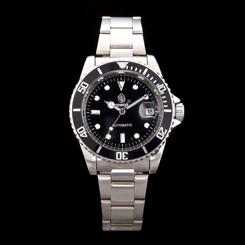 06af3ee7f1b SEWOR Homens De Luxo Da Marca Mecânico Automático relógio de pulso de Aço  Inoxidável relógio do esporte Marinhos Vingança estilo moda