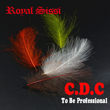 Royal Sissi 4packs/set fly tying CDC feathers 0.5g/pack Cul De Canard preen glands buoyancy butt feather dry materials