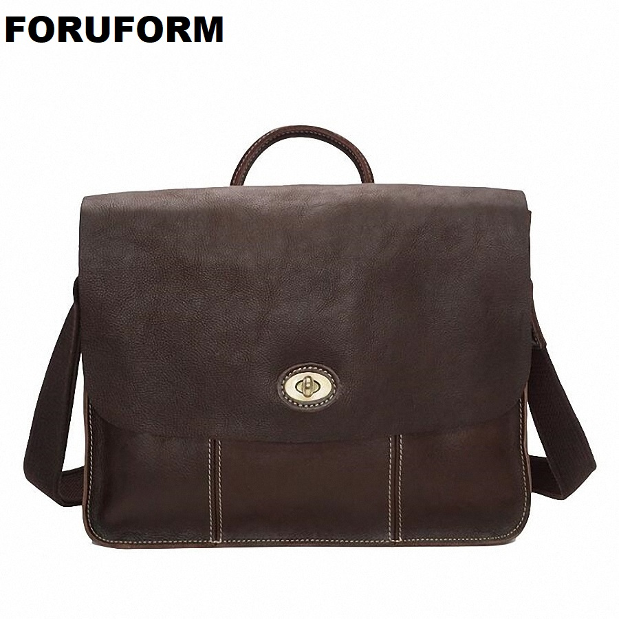 Genuine Leather Man Fashion Briefcase High Quality Business Shoulder Bag Casual Travel Handbag Luxury Brand Laptop Bag LI-2034