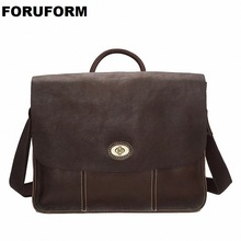 Genuine Leather Man Fashion Briefcase High Quality Business Shoulder Bag Casual Travel Handbag Luxur