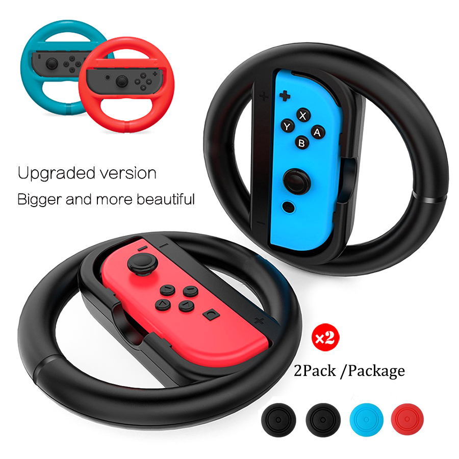 KYVG 2 Pcs Bigger Racing Game Steering Wheel Stand for Nintend Switch, 2 Pack Remote Helm Game Wheels for Nintendo Switch NS KYVG 2 Pcs Bigger Racing Game Steering Wheel Stand for Nintend Switch, 2 Pack Remote Helm Game Wheels for Nintendo Switch NS