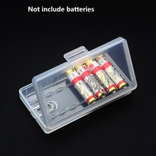 30pcs/lot wholesales Transparent Plastic AAA Battery Storage Box for place 8pcs Batteries battery Organizer Holder Container