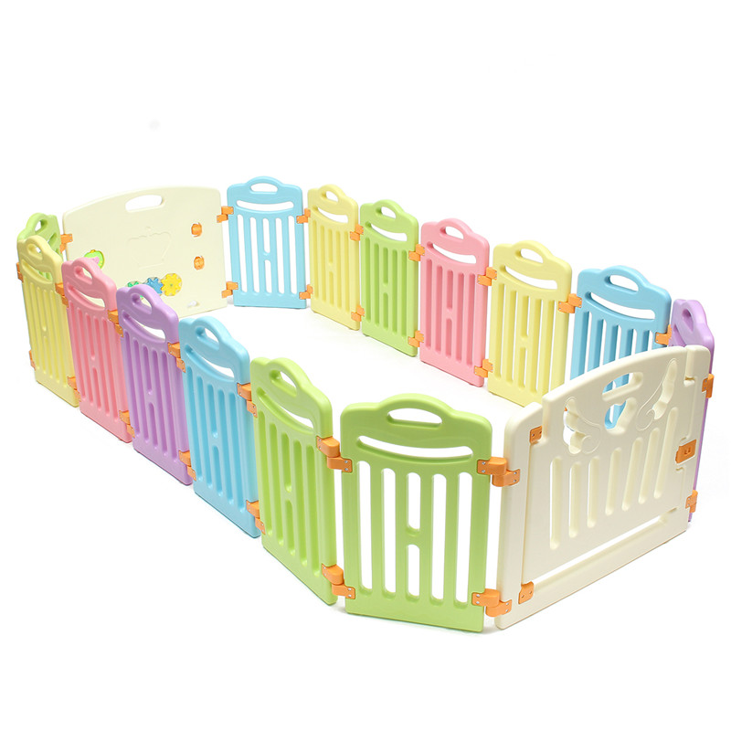 Indoor Outdoor Baby Girl Boys Safety Play Center Yard Wood Toddler Playpen Fence with Door Height 60CM 6 Panel