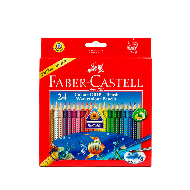 scribble scribble pen FABER CASTELL 24 color lattice water-soluble colored pencil lead triangle color carton 116243 scribble scribble pen faber castell 25 pieces of pencil sketch sketch article carbon combination 112969