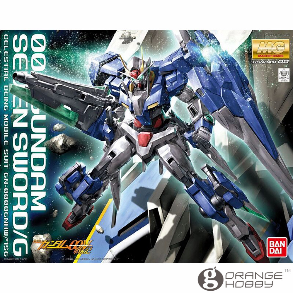 OHS Bandai MG 148 1/100 GN-0000GNHW/7SG OO Gundam Seven Sword/G Mobile Suit Assembly Model Kits купить