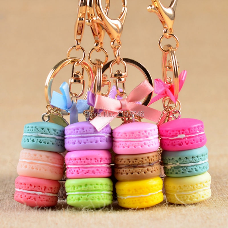mini order fashion 3d vinyl keyring 2 pieces cute pastel colorful food cake 40x23mm pendant keychain toys gift key chain rings - Pastel Food Coloring