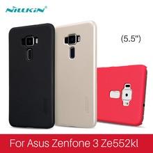 Для Asus Zenfone 3 ZE552KL Nillkin Super Frosted PC жесткий пластиковый чехол + Screen Protector для Asus Zenfone 3 Бесплатная доставка