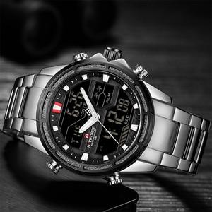 Image 3 - NAVIFORCE 男性腕時計スポーツクォーツデジタル男性の時計のボックスセットで販売男性軍事防水時計レロジオ Masculino