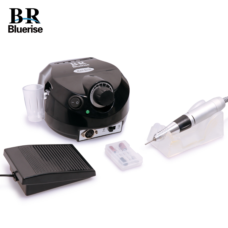 Electric Nail Drill Machine Manicure Pedicure Set 35000 rpm Nail Art Equipment Accessory Nail Drill Bits Foot Pedal Handle Stand arieslibra 30000rpm blue electric nail art drill manicure tools pedicure acrylics nail art drill pen machine set nail equipment