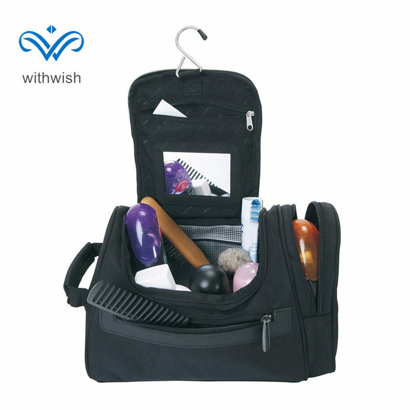 Large Capacity Men Travel Toiletry Bag Double-zipper Cosmetic Bag Waterproof Polyester Shaving Bag Hanging Makeup Kit Travelmate hot sale 2017 pencil golf bag men double thickening cotton travel bag for golf clubs with wheels large capacity storage golfbag