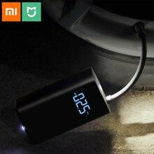 원래 xiaomi mijia 휴대용 스마트 디지털 타이어 압력 감지 자전거 오토바이 자동차 축구에 대 한 전기 팽창기 펌프