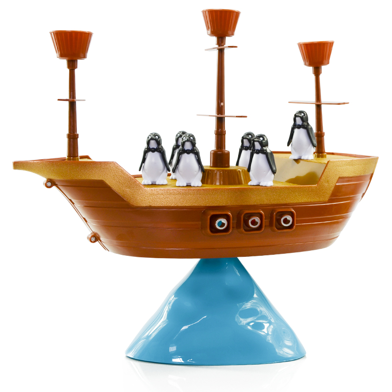 Children Educational Toys Penguin Pirate Ship Balance Family Parent-Child Interaction Children Desktop Game For Children Gift