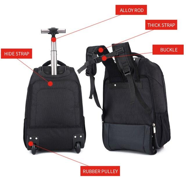 MAGIC UNION Trolley School Bags boy Backpacks Brand Design Teenagers Best Students Travel Business Waterproof Schoolbag 4