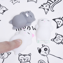 Mini Squishy Squeeze toys Cute Mochi cat antistress ball Fun Joke Rising Toys Abreact Soft Sticky stress relief toy funny gift(China)
