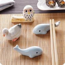 Милая керамическая подставка для китайских палочек в форме гуся, Дельфина, совы, подставка для хранения посуды, держатель для кухонных палочек для еды