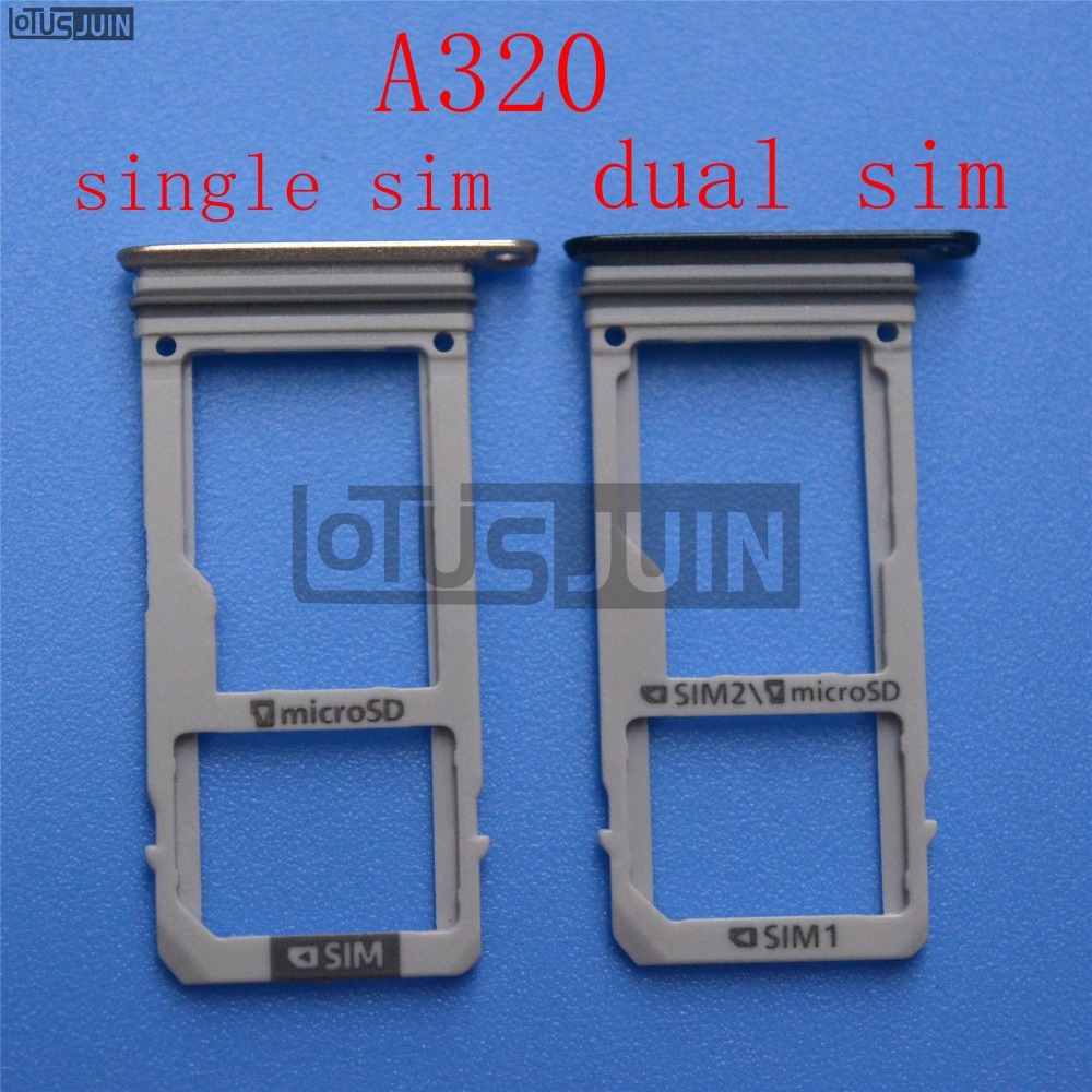1pcs New Dual SIM Single SIM Card Tray Holder Slot For Samsung Galaxy A320 A3 2017