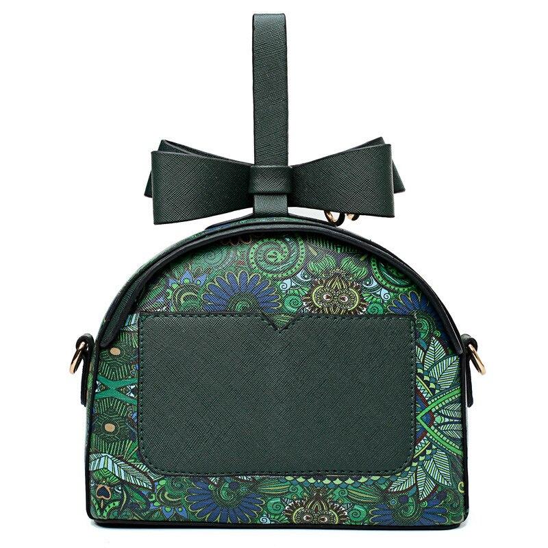 Del Foresta Donne Bolsa Borsa Tracolla Feminina P Circolare Cuoio Messenge Modello Bag Pendente A Metallico Di Green Semicerchio Ragazze Stampa 0rwrxqdv