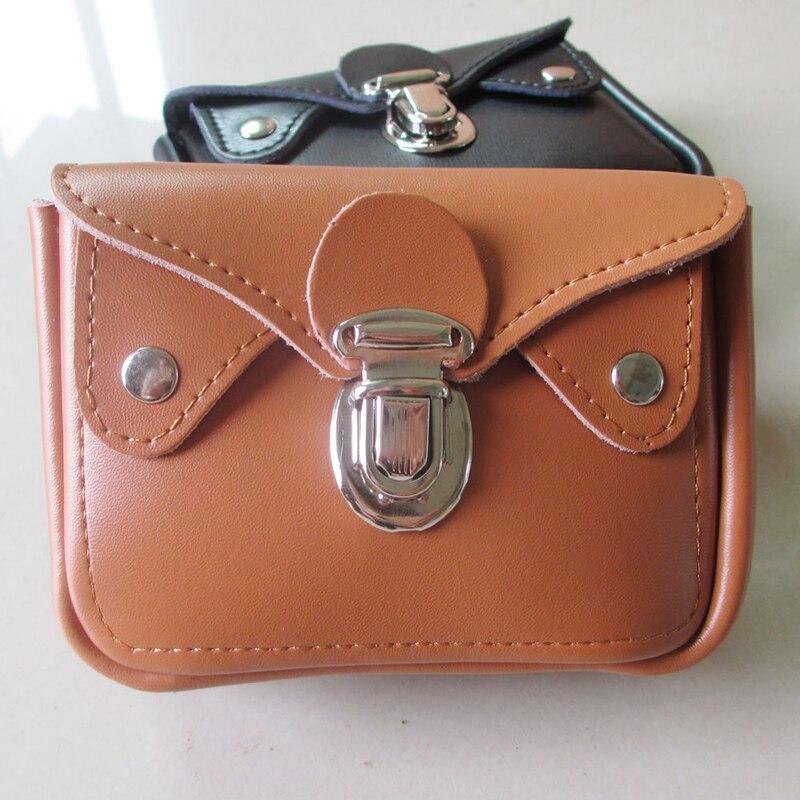 BISI GORO Outdoor Travel Pouch Waist Wear Belt Pocket Fashion Cow Leather Hasp Wen Waist Bag Porta Tarjetas Small Heuptas Heren