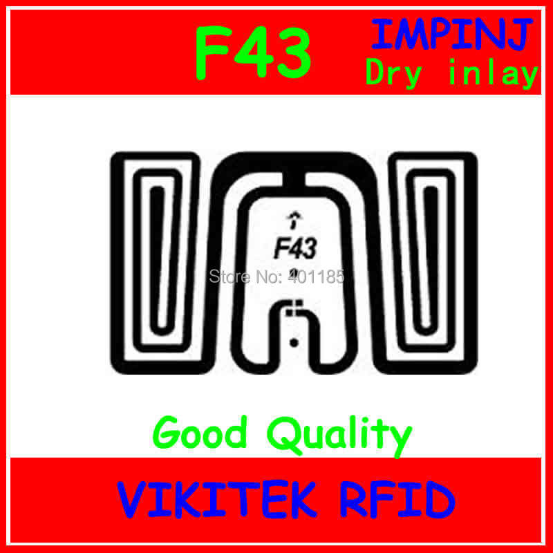 Impinj F43 UHF RFID Dry Inlay 860-960MHZ Monza4 915M EPC C1G2 ISO18000-6C Can Be Used To RFID Tag And Label