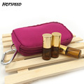 2ml 3ml Solid Essential Oils BagKeychain Style Storage For Traveling Sturdy Double Zipper Essential Oil Carrying Case