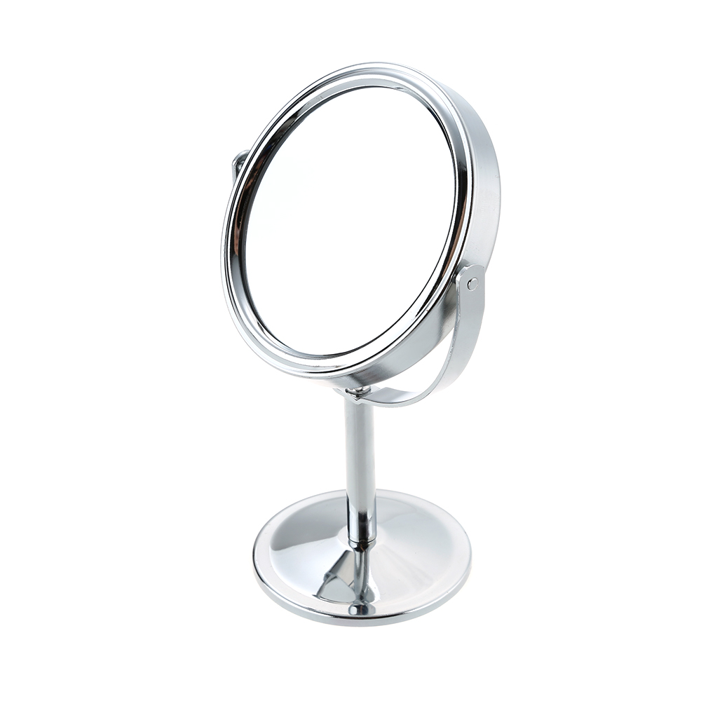 3 inch silver magnification round shape make up mirror for Silver stand up mirror