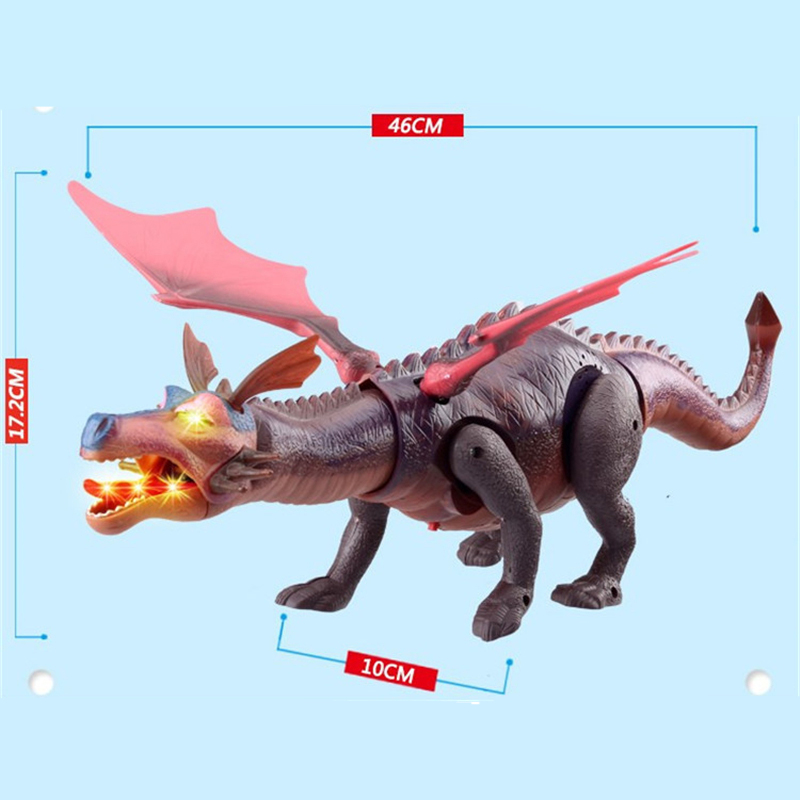 HziriP Large Dinosaur Toys Children Electric Dnosaurs Educational Toys Will Walk Shine Music Model Classic Toy Kids Boys Gifts