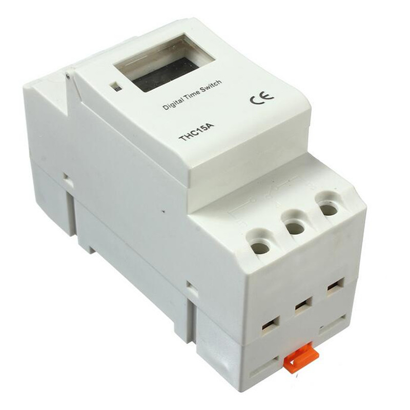 High Quality THC15A DIN Rail Digital Programmable Timer Switch 220-240V 16A Time Relay Switch 0 01 999 second 8 terminals digital timer programmable time relay